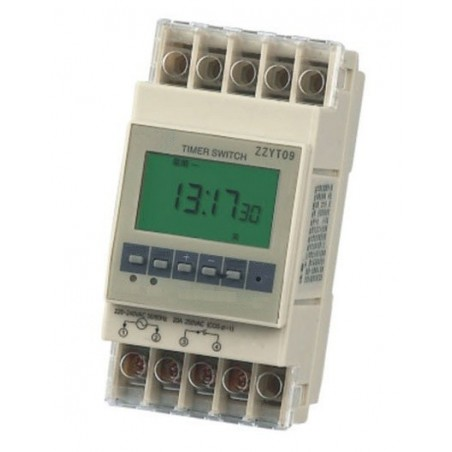 20A Time programmer weeks or days (168 hours) programmable