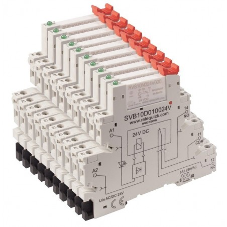 pack 10 relays plus 10 sockets (MOQ 250 pcs)