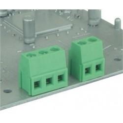 Bornero para soldar a PCB de 2 polos apilables paso 5 mm
