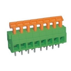Solderable PCB terminal block without screws