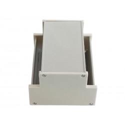 Carcasa del carril DIN aluminio ancho 101 mm